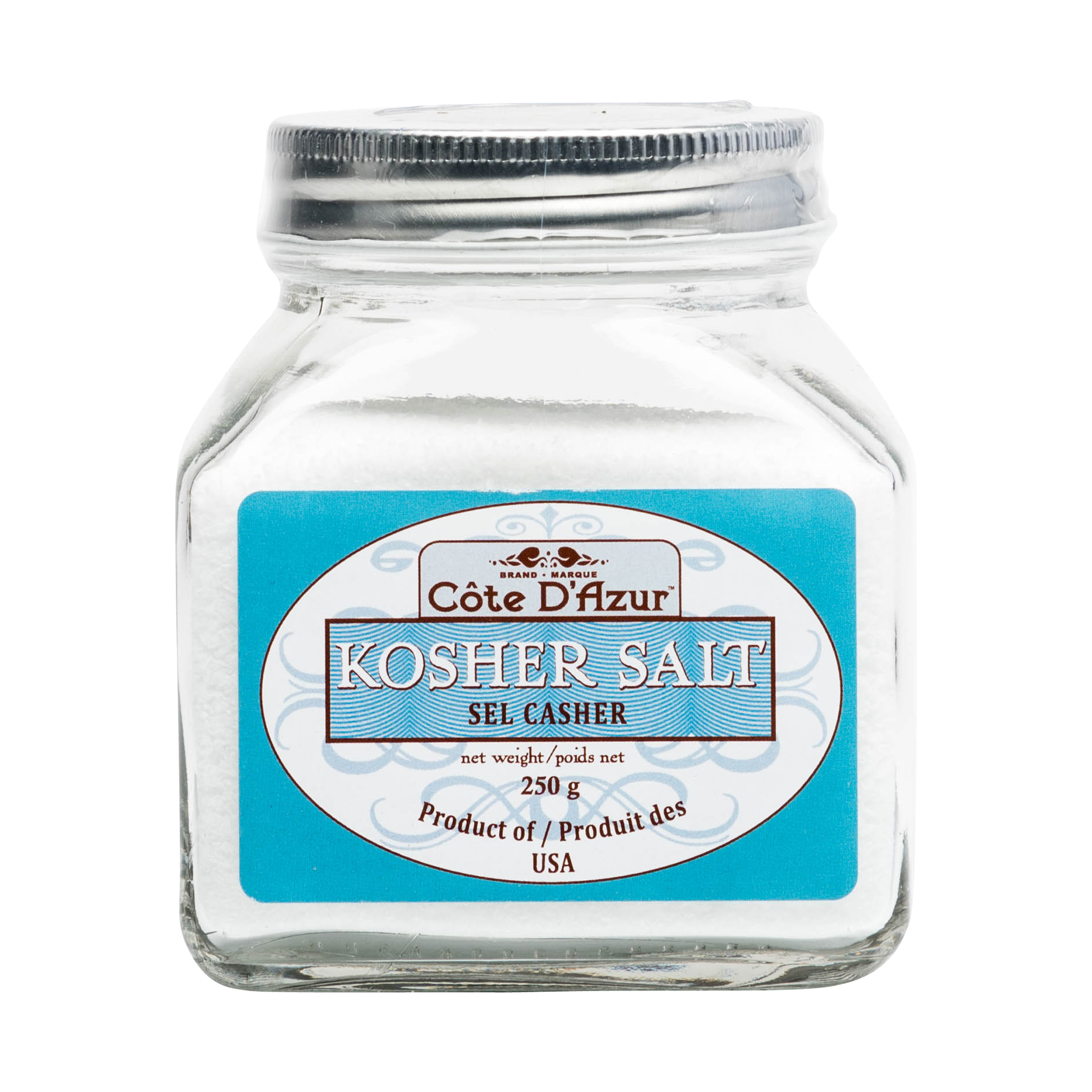 KOSHER SALT IN GLASS JAR