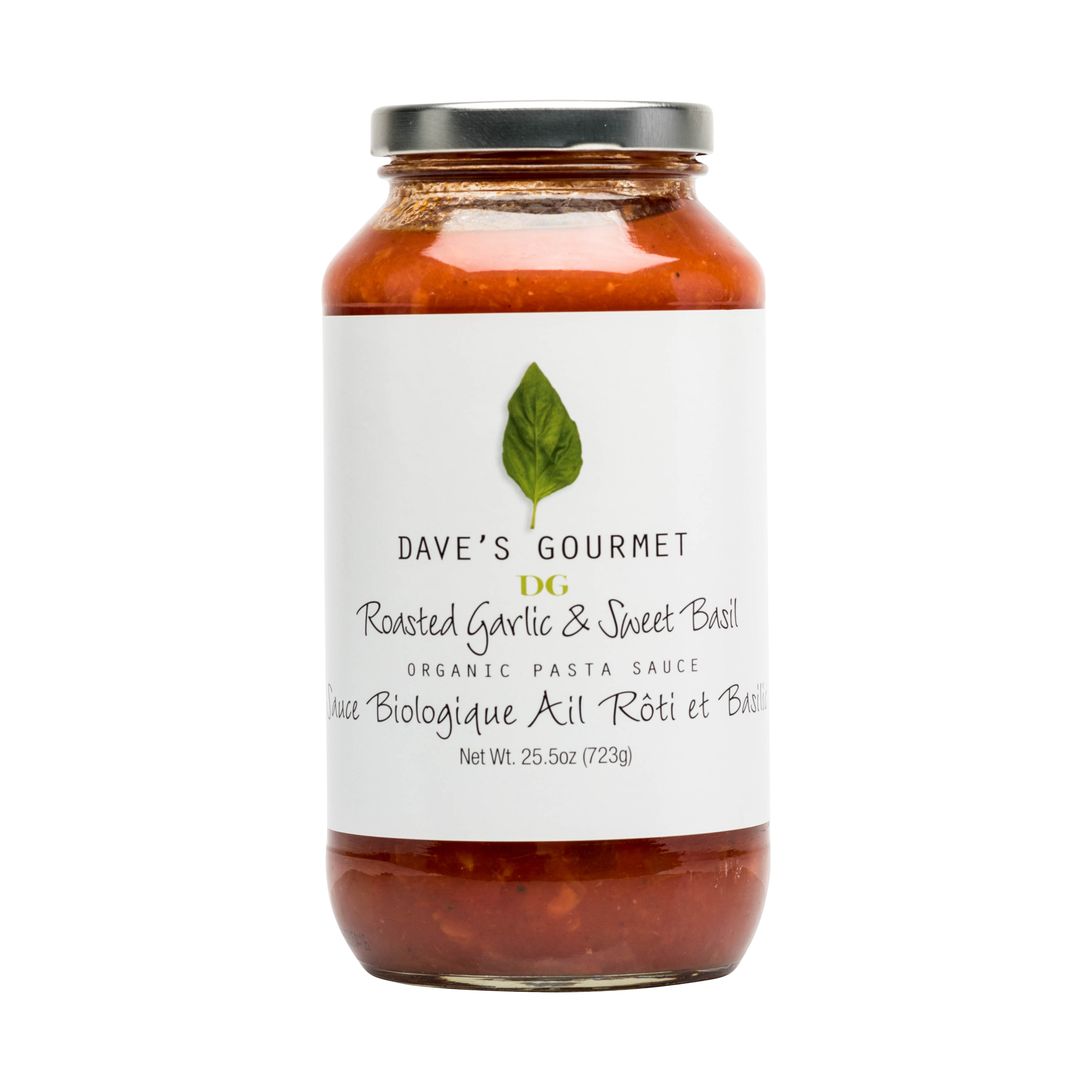 ROASTED GARLIC & SWEET BASIL ORGANIC PASTA SAUCE