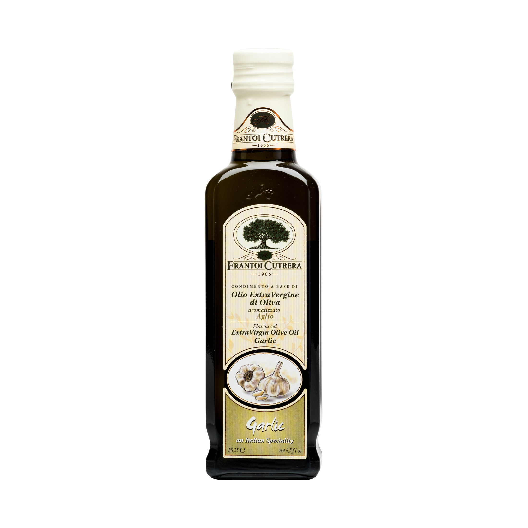 CUTRERA GARLIC EXTRA VIRGIN OLIVE OIL