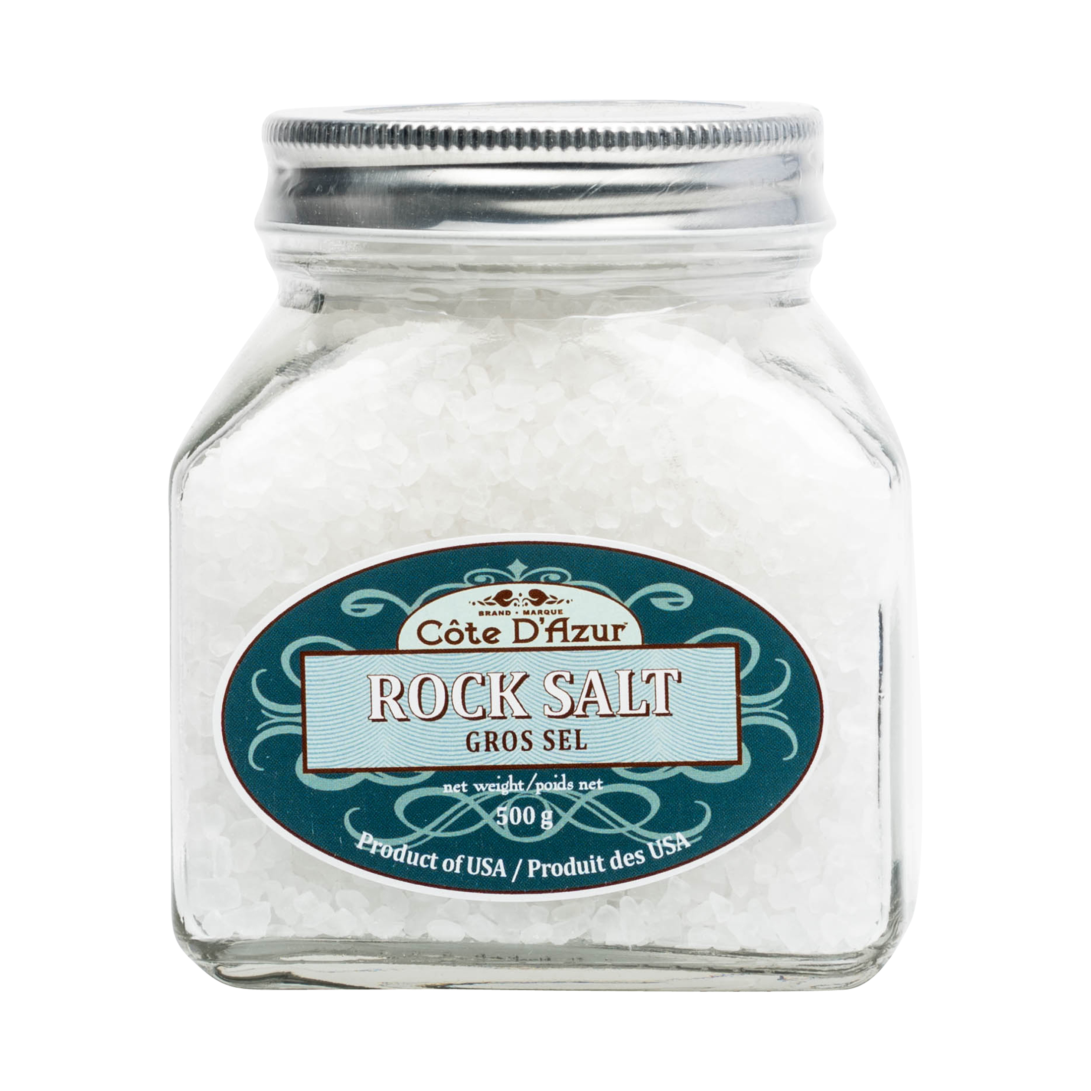 ROCK SALT IN GLASS JAR