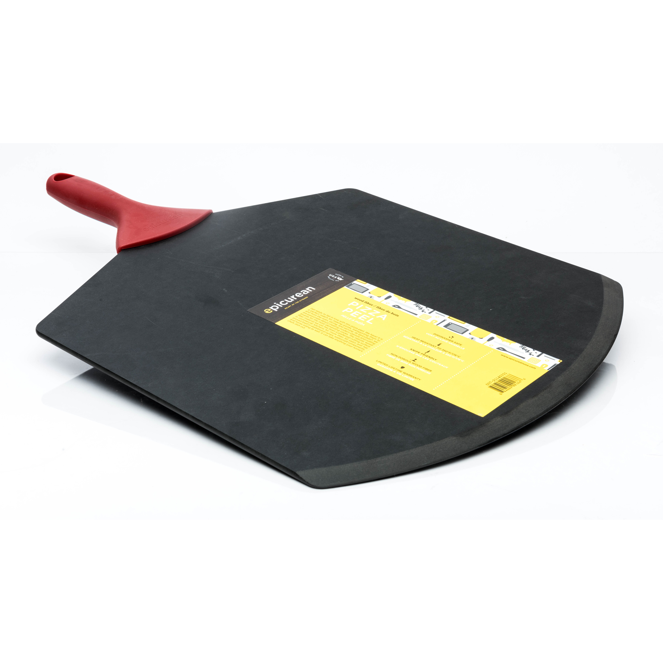 GOURMET LARGE PIZZA PEEL BLACK & RED HANDLE