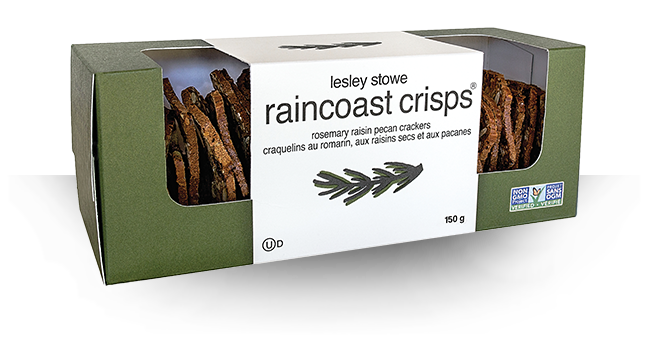 RAINCOAST CRISPS ROSEMARY RAISIN & PECAN